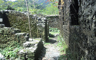 The remains of the Buxa Fort